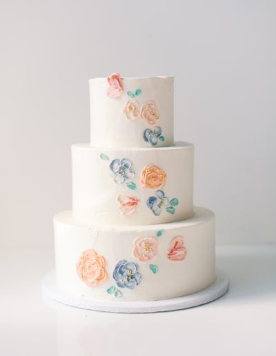 Hand painted buttercream flowers $25 per tier