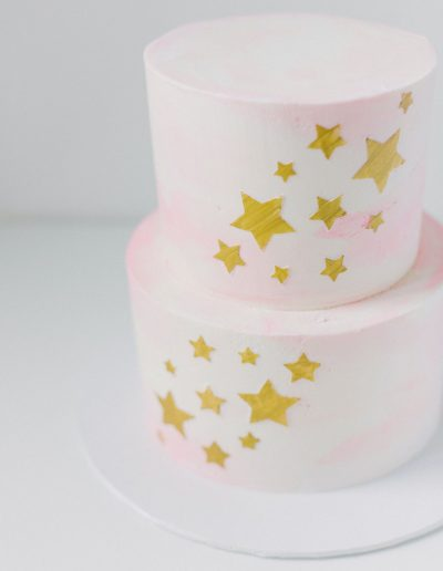 Two tier star cake
