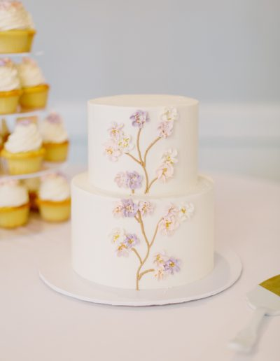 Two tier floral cake
