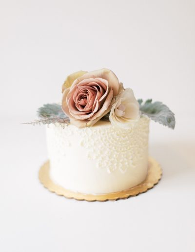 Lace doily cake
