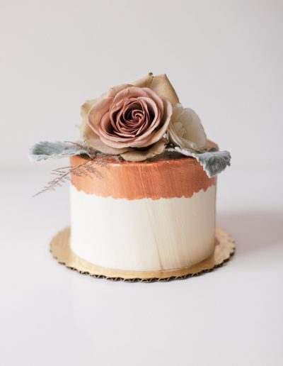 Copper border cake