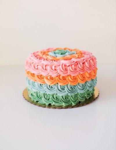 Multicolor rosettes