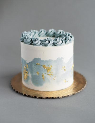 Gray watercolor cake